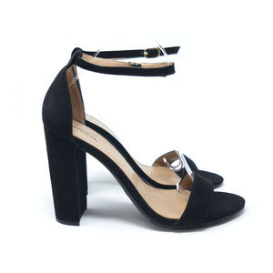 Merona Sandals Block Heels Black Ankle Strap